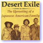 Desert Exile book cover icon. Four Japanese people looking at you.
